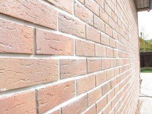 Укладка клинкерной плитки на фасад дома